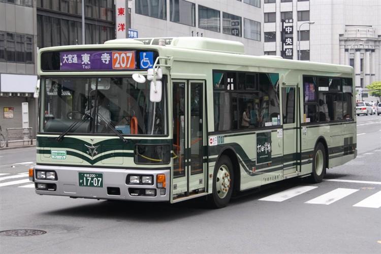 京都市バス 京都200か1707 三菱PDG-AA273MAN
