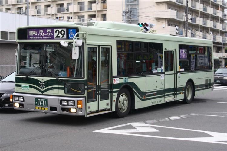 京都市バス 京都200か1711 三菱PDG-AA273MAN