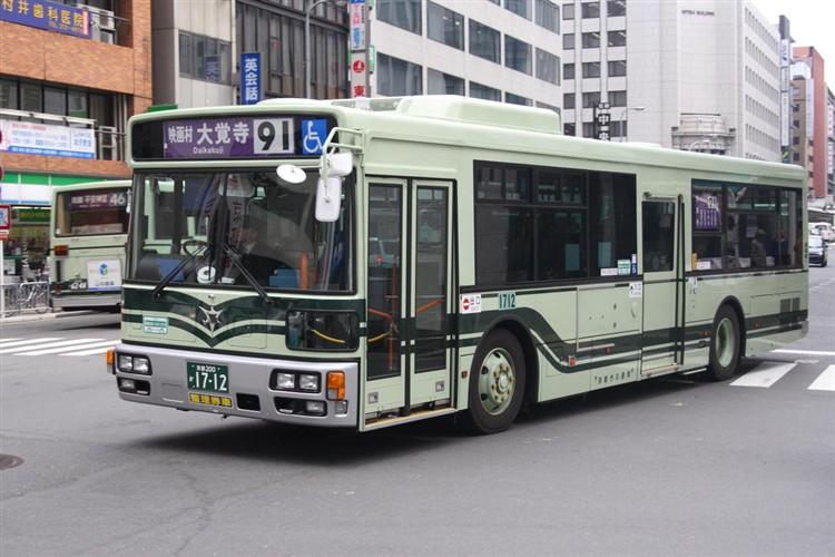 京都市バス 京都200か1712 三菱PDG-AA273MAN