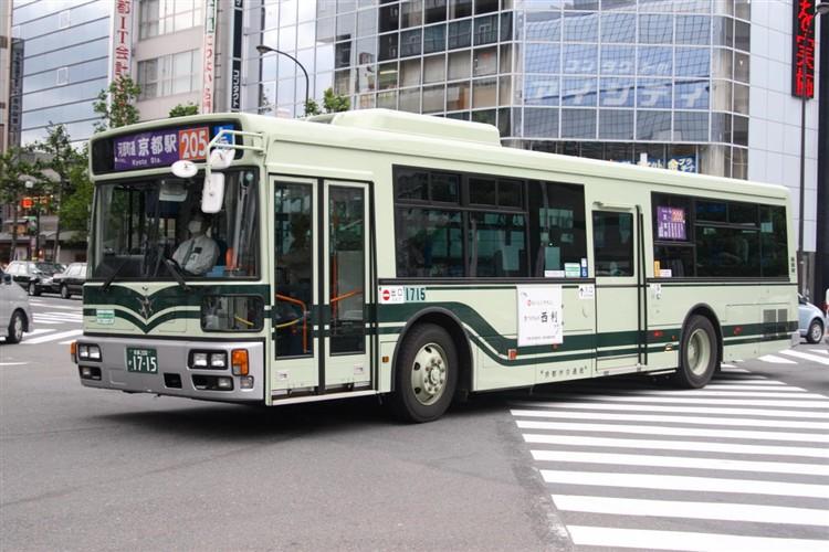 京都市バス 京都200か1715 三菱PDG-AA273MAN