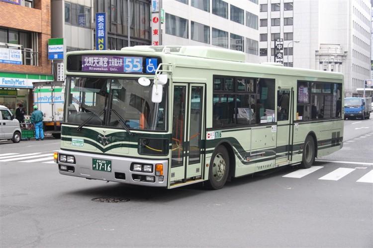 京都市バス 京都200か1716 三菱PDG-AA273MAN