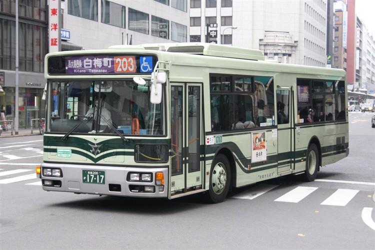 京都市バス 京都200か1717 三菱PDG-AA273MAN
