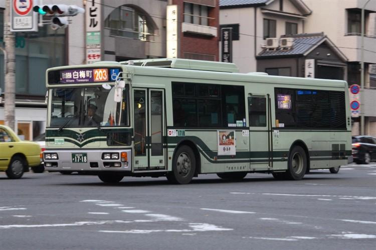 京都市バス 京都200か1718 三菱PDG-AA273MAN