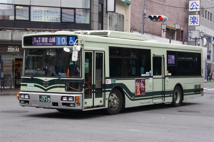 京都市バス 京都200か1719 三菱PDG-AA273MAN