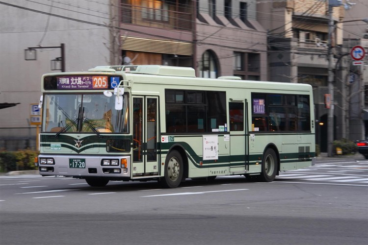 京都市バス 京都200か1720 三菱PDG-AA273MAN