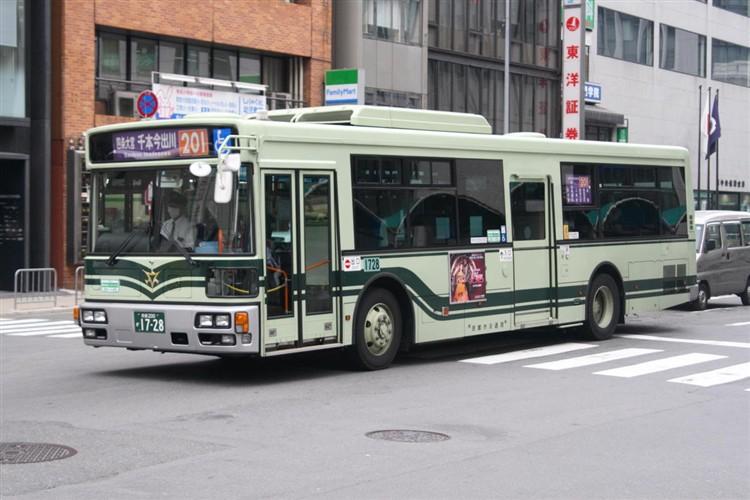 京都市バス 京都200か1728 三菱PDG-AA273MAN