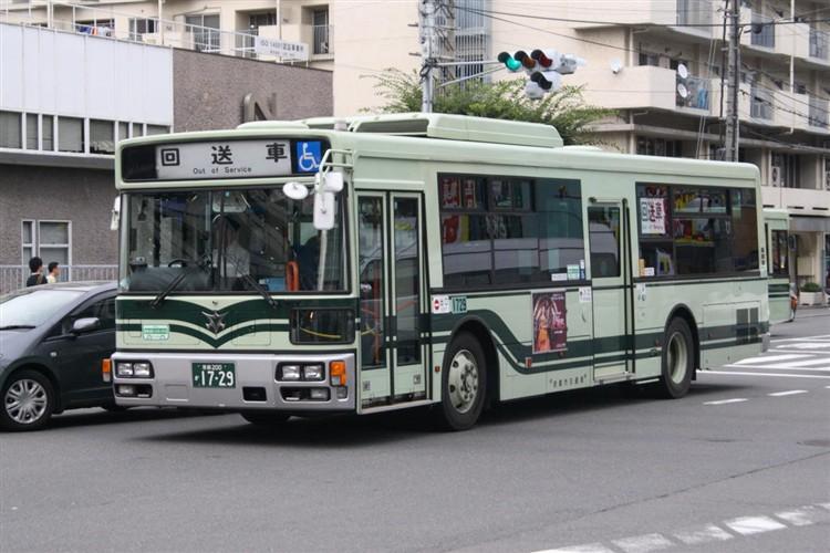 京都市バス 京都200か1729 三菱PDG-AA273MAN