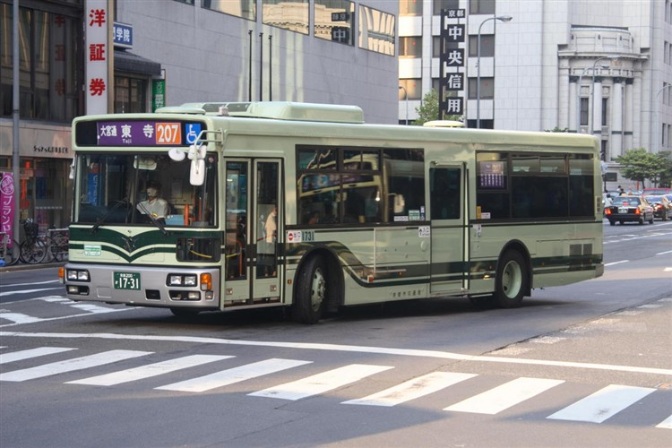 京都市バス 京都200か1731 三菱PDG-AA273MAN