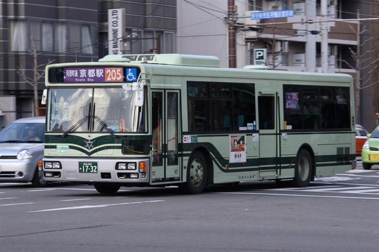 京都市バス 京都200か1732 三菱PDG-AA273MAN
