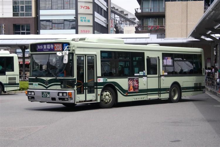 京都市バス 京都200か1734 三菱PDG-AA273MAN