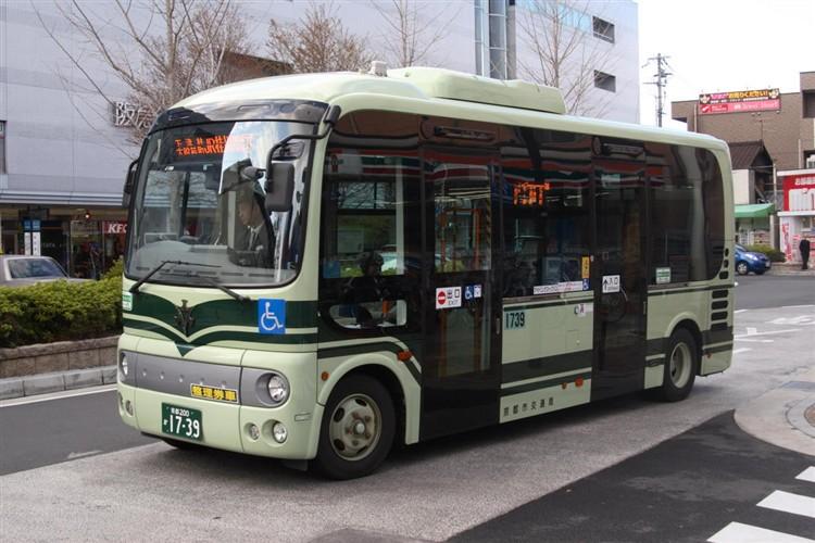 京都市バス 京都200か1739 日野BDG-HX6JLAE