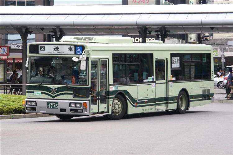 京都市バス 京都200か1745 三菱PDG-AA273MAN