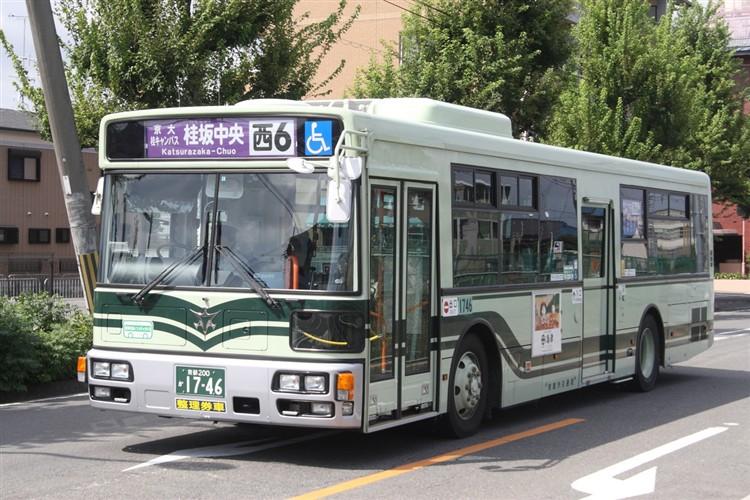 京都市バス 京都200か1746 三菱PDG-AA273MAN