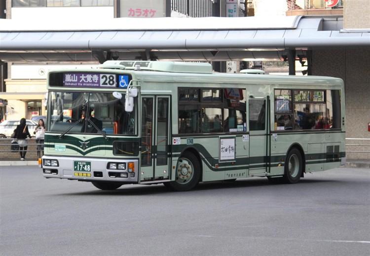 京都市バス 京都200か1748 三菱PDG-AA273MAN