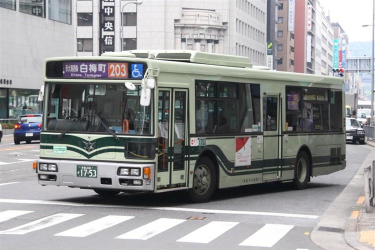 京都市バス 京都200か1753 三菱PDG-AA273MAN