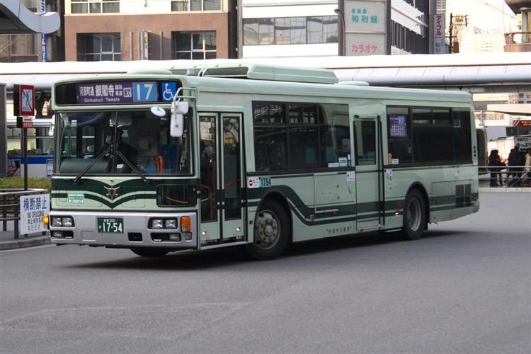 京都市バス 京都200か1754 三菱PDG-AA273MAN
