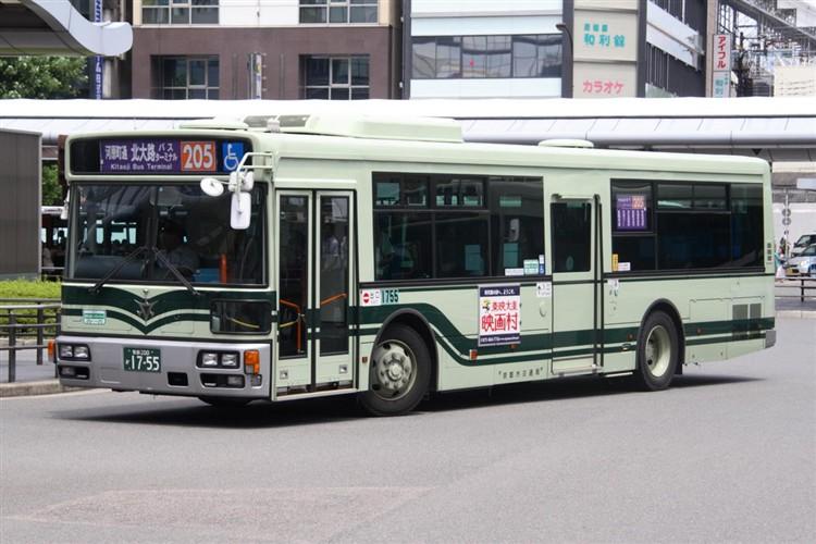 京都市バス 京都200か1755 三菱PDG-AA273MAN