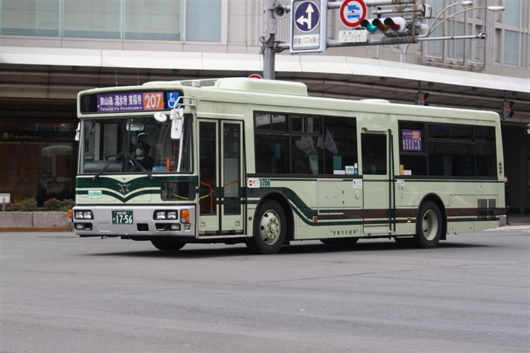 京都市バス 京都200か1756 三菱PDG-AA273MAN