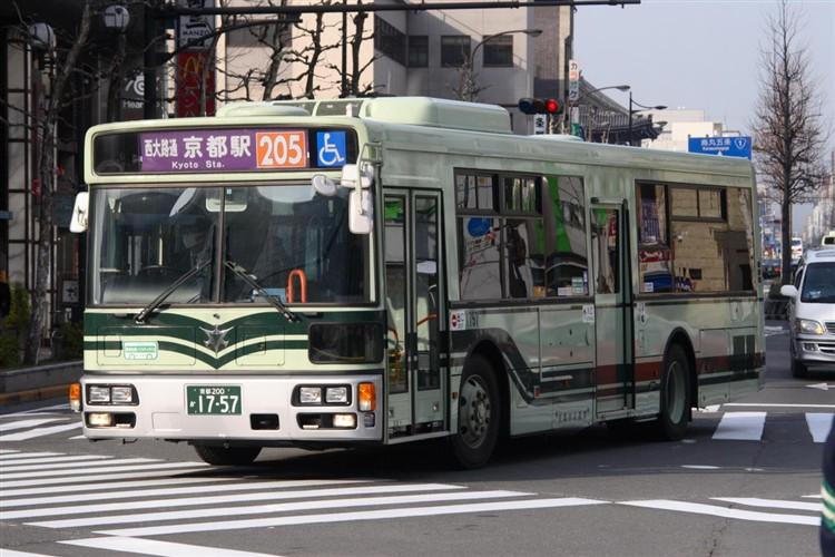 京都市バス 京都200か1757 三菱PDG-AA273MAN