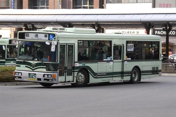 京都市バス 京都200か1762 三菱PDG-AA273MAN