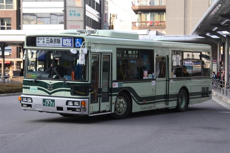 京都市バス 京都200か1770 三菱PDG-AA273KAN