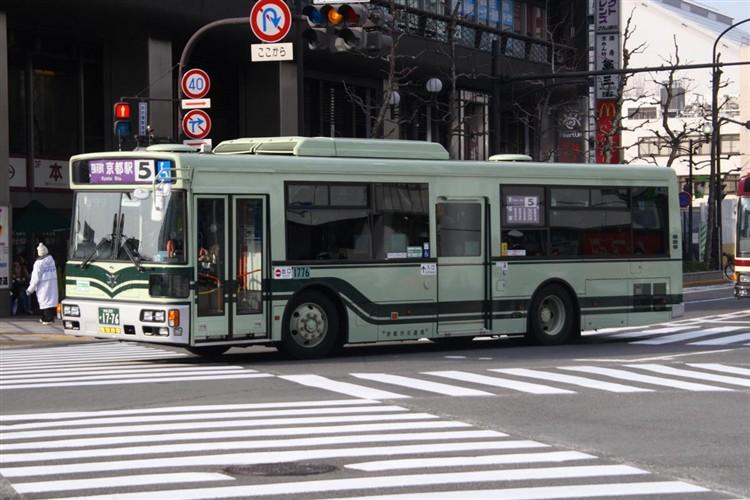 京都市バス 京都200か1776 三菱PDG-AA273KAN