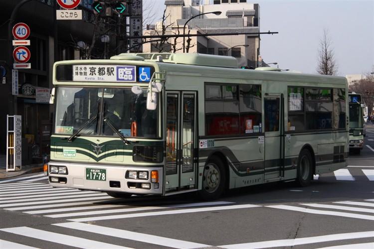 京都市バス 京都200か1778 三菱PDG-AA273KAN
