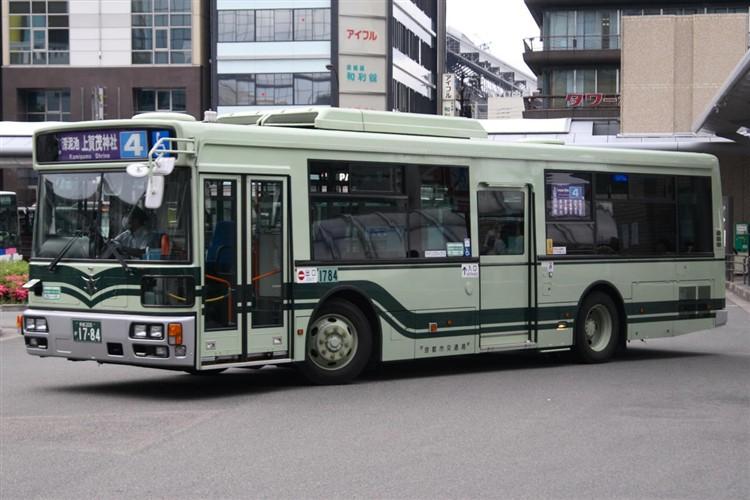 京都市バス 京都200か1784 三菱PDG-AA273KAN