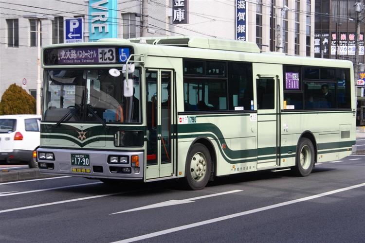 京都市バス 京都200か1790 いすゞPDG-LV234L2(ワンステ)