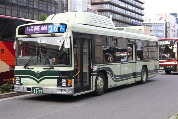 京都市バス 京都200か1799 いすゞPDG-LV234N2改(CNG車輌)