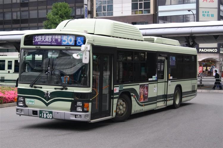 京都市バス 京都200か1800 いすゞPDG-LV234N2改(CNG車輌)