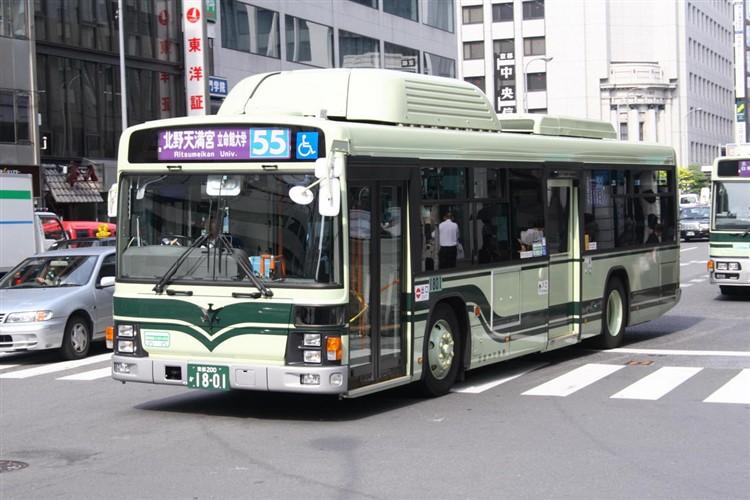 京都市バス 京都200か1801 いすゞPDG-LV234N2改(CNG車輌)