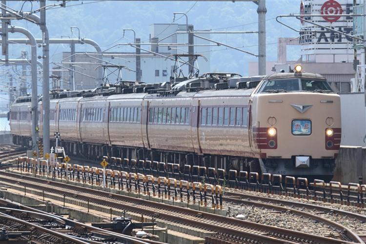 雷鳥485系A10編成 福井駅