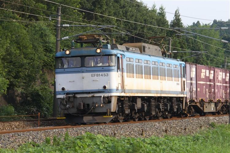 EF81-453 細呂木~芦原温泉間