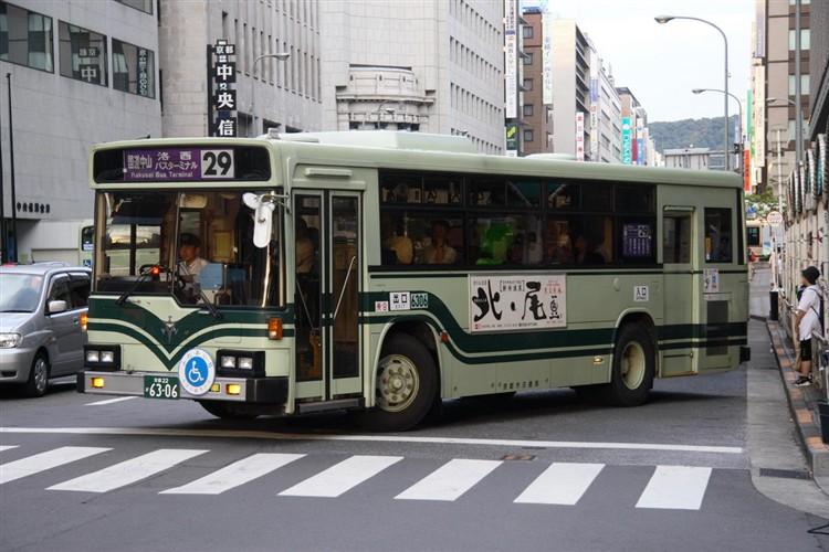 京都市交通局6306 いすゞKC-LV280N