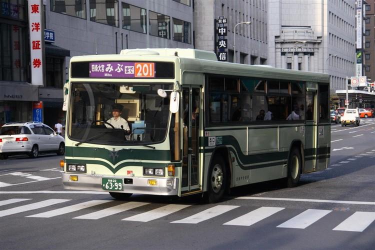京都市バス6399 いすゞKC-LV280L
