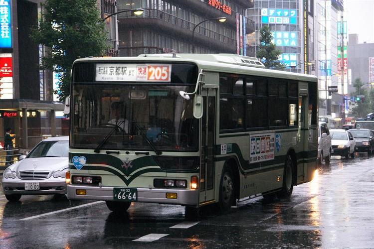 京都市交通局6664 三菱KC-MP717K改