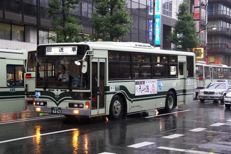 京都市交通局6663 三菱KC-MP717K改