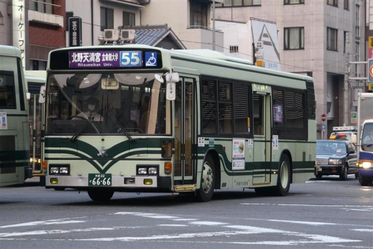 京都市バス6666 日野KC-HU2PMCA