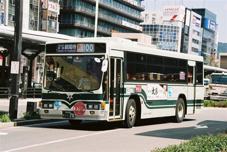京都市バス 京都200か・・70 いすゞNE-LV288L