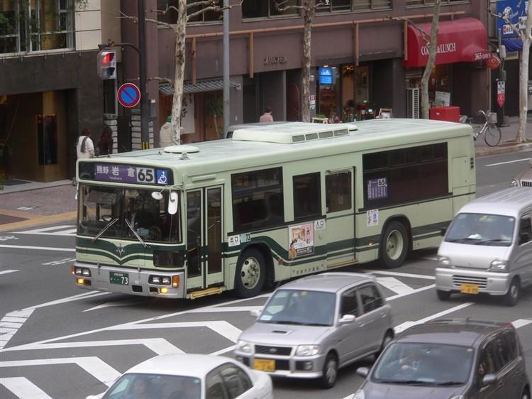 京都市バス 京都200・・73 いすゞKC-LV832L1
