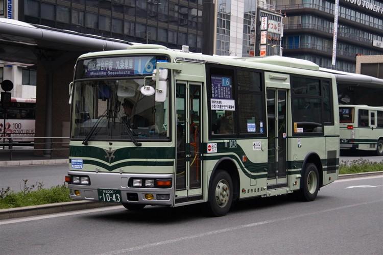 京都市バス 京都200か1043 三菱PA-ME17DF