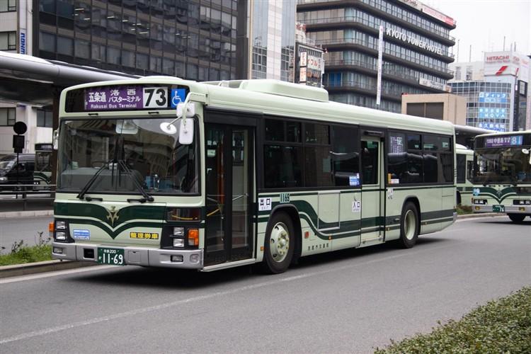京都市バス 京都200か1169 いすゞPJ-LV234N1