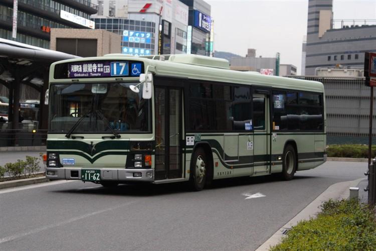 京都市バス 京都200か1162 いすゞPJ-LV234N1
