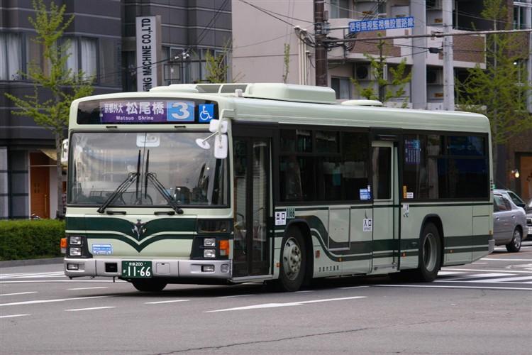 京都市バス 京都200か1166 いすゞPJ-LV234N1