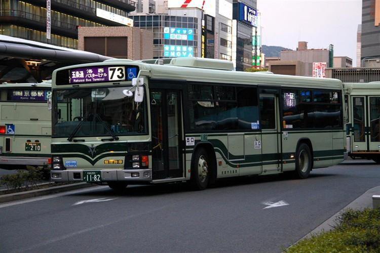 京都市バス 京都200か1182 いすゞPJ-LV234N1