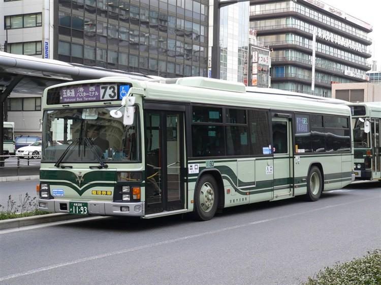 京都市バス 京都200か1193 いすゞPJ-LV234N1
