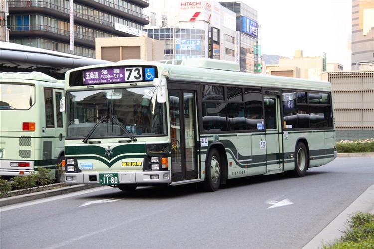 京都市バス 京都200か1180 いすゞPJ-LV234N1
