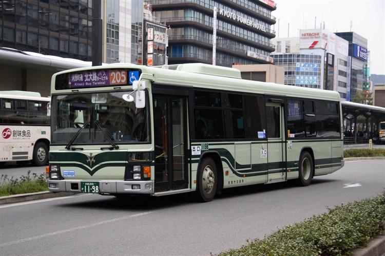京都市バス 京都200か1198 いすゞPJ-LV234N1