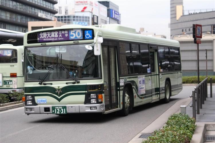 京都市バス 京都200か1231 いすゞPJ-LV234N1